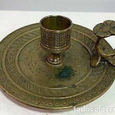 Antigüedades: PALMATORIA DE BRONCE PROCEDENCIA FRANCESA SIGLO XIX. 12 CM DIÁMETRO.. Lote 203083781