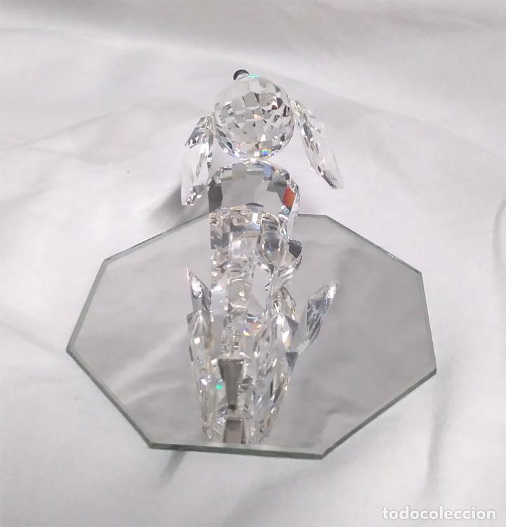 Antigüedades: Perro Salchicha Figura Cristal Swarovski año 76, buen estado - Foto 2 - 203090073