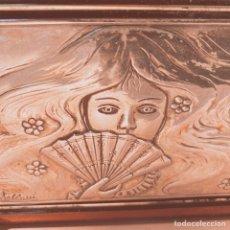 Antigüedades: PLACA DE PLATA DE LEY MODERNISTA ART NOUVEAU FIRMADA CASTELLANI ANTIQUE UNIQUE. Lote 148990918
