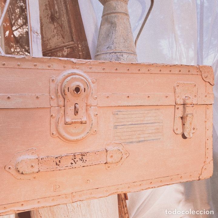 Antigüedades: Gran Bagul Antiguo de Tono Rosado Nude ANTIQUE UNIQUE - Foto 2 - 171240089