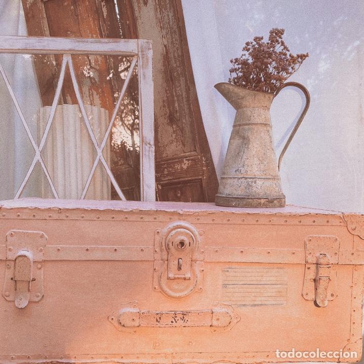Antigüedades: Gran Bagul Antiguo de Tono Rosado Nude ANTIQUE UNIQUE - Foto 4 - 171240089