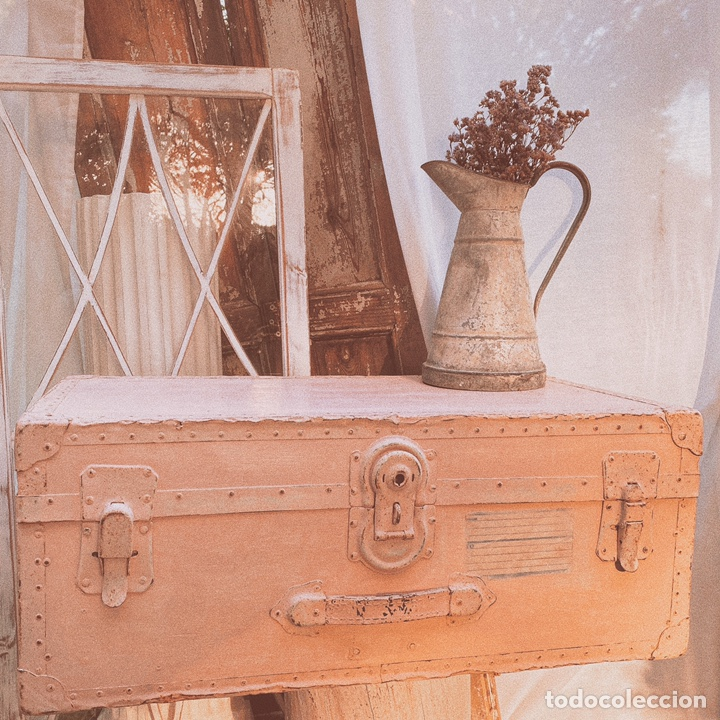 Antigüedades: Gran Bagul Antiguo de Tono Rosado Nude ANTIQUE UNIQUE - Foto 5 - 171240089