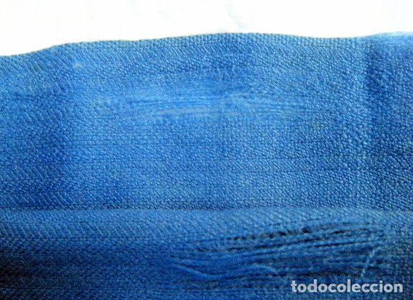 Antigüedades: Antigua faja o fajín lana . Traje regional Segovia. Telar Azul añil Indumentaria tradicional popular - Foto 3 - 203094913