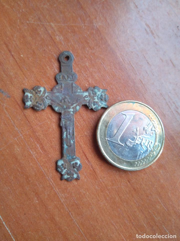 Antigüedades: ANTIGUO CRUCIFIJO - SIGLO XIX - Foto 3 - 203104697