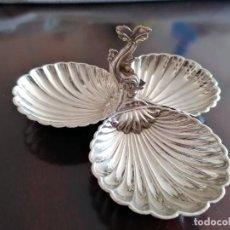 Antigüedades: CUENCOS ALPACA PLATEADA PARA SERVIR APERITIVOS. Lote 203138851