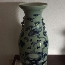 Antigüedades: JARRON CHINO VERDE CELADON..PORCELANA .. CON CERTIFICADO DE ANTIGUEDAD.. Lote 203140107
