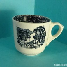 Antigüedades: TAZA DE CAFÉ CON DECORACIÓN SERIGRAFIADA TIPO VISTAS. ALTURA 6 CM. Lote 203147548