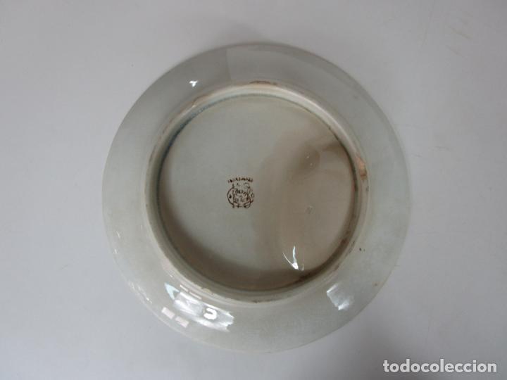 Antigüedades: Curioso Platos Antiguos - Sello Choisy le Roi - Porcelana Opaca - con Salsera Incluida - S. XIX - Foto 6 - 203172181