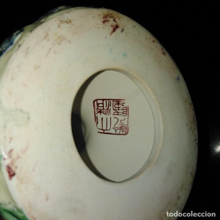 Antigüedades: Antiguo Candelabro Art Nouveau de porcelana japonesa, años 20, sellado - Foto 9 - 203183615