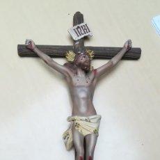Antigüedades: CRUCIFIJO ANTIGUO DE PARED CON LA IMAGEN DE JESUS. Lote 203261400