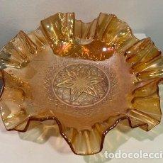 Antigüedades: CARNIVAL GLASS, PLATO.. Lote 203270403