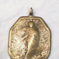 Antigüedades: VIRGEN Y CUSTODIA MEDALLA BRONCE S XVII. MED. 45 MM. Lote 203275387