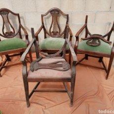 Antigüedades: CUATRO SILLAS DE LA LIRA. Lote 203278651