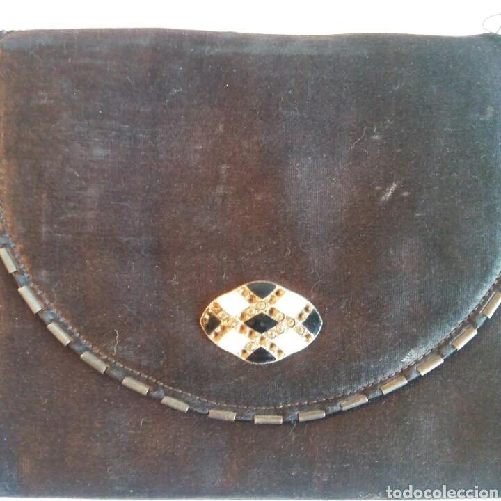 Antigüedades: Bolso Art Decó en seda natural negra - Foto 3 - 203290220
