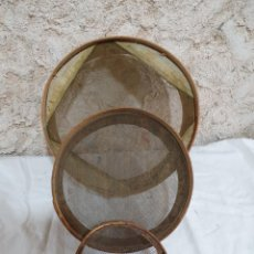 Antigüedades: SET DE TRES CRIBAS. Lote 203291632