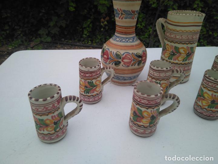 Antigüedades: JUEGO DE BOTELLA, JARRA Y VASO, CERÁMICA ANTIGUA PUENTE DEL ARZOBISPO ------ZXY - Foto 2 - 203303461