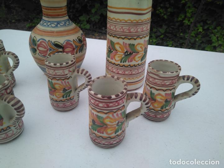 Antigüedades: JUEGO DE BOTELLA, JARRA Y VASO, CERÁMICA ANTIGUA PUENTE DEL ARZOBISPO ------ZXY - Foto 4 - 203303461