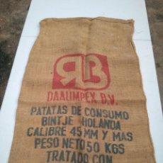 Antigüedades: GOMBAR ESPAÑA - PATATAS DE CONSUMO - 50 KILOS - ANTIGUO SACO DE ARPILLERA O YUTE - AÑOS 50/60. Lote 203303870