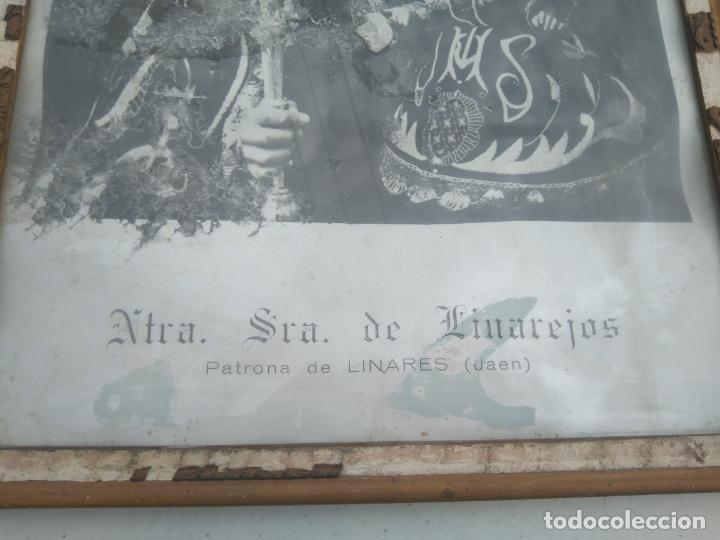 Antigüedades: NUESTRA SEÑORA DE LINAREJOS - PATRONA DE LINARES (JAÉN) - ANTIGUA Y GRAN LITOGRAFÍA ENMARCADA - Foto 2 - 203304355