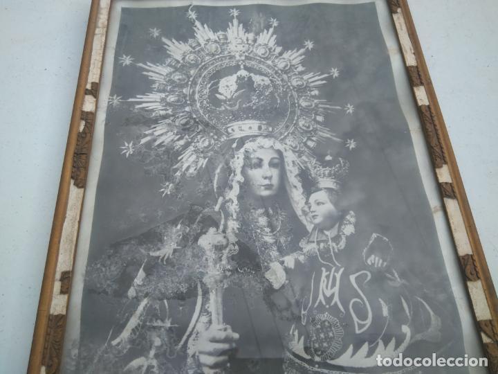 Antigüedades: NUESTRA SEÑORA DE LINAREJOS - PATRONA DE LINARES (JAÉN) - ANTIGUA Y GRAN LITOGRAFÍA ENMARCADA - Foto 3 - 203304355