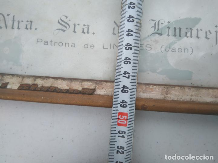 Antigüedades: NUESTRA SEÑORA DE LINAREJOS - PATRONA DE LINARES (JAÉN) - ANTIGUA Y GRAN LITOGRAFÍA ENMARCADA - Foto 6 - 203304355