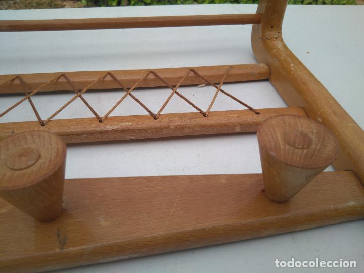 Antigüedades: PERCHA Y SOMBRERERO ANTIGUO DE RECIBIDOR - PRECIOSO - 65 x 35 CM APROX. - Foto 4 - 203305682