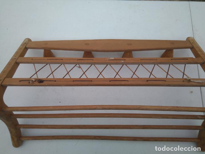 Antigüedades: PERCHA Y SOMBRERERO ANTIGUO DE RECIBIDOR - PRECIOSO - 65 x 35 CM APROX. - Foto 7 - 203305682