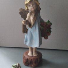 Antigüedades: FIGURA ÁNGEL ESCAYOLA RESINA. Lote 203330068