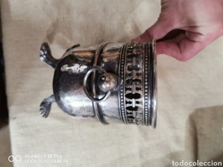 Antigüedades: Macetero plateado - Foto 3 - 203345715