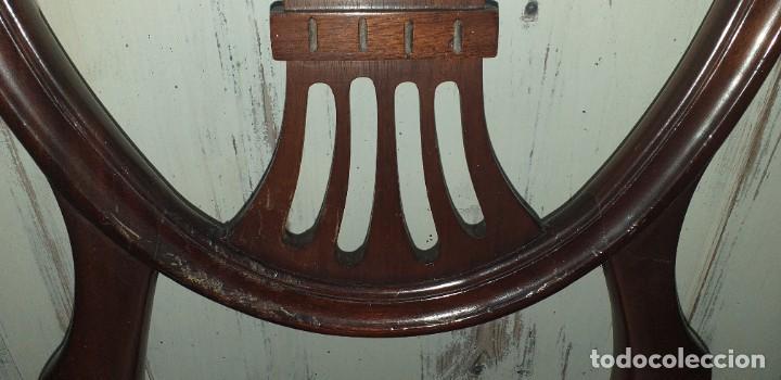 Antigüedades: SILLA ESTILO CHIPPENDALE DE CAOBA - Foto 5 - 203366880