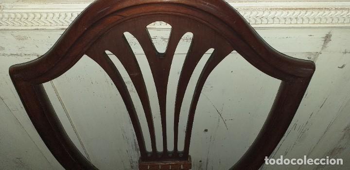 Antigüedades: SILLA ESTILO CHIPPENDALE DE CAOBA - Foto 6 - 203366880