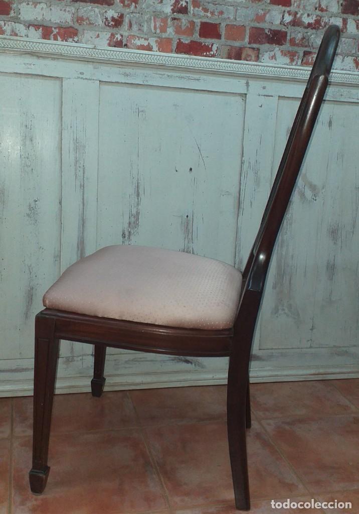 Antigüedades: SILLA ESTILO CHIPPENDALE DE CAOBA - Foto 9 - 203366880