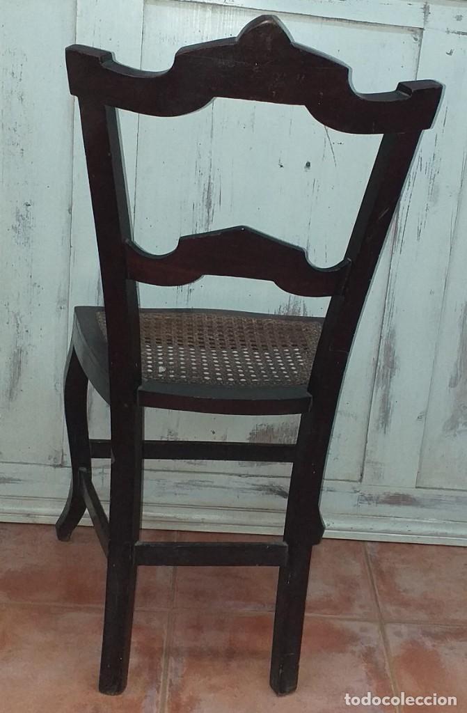 Antigüedades: SILLA ALFONSINA DE CAOBA - Foto 8 - 203369727