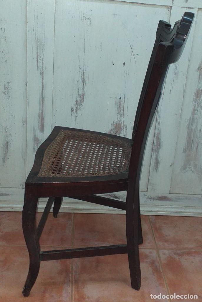 Antigüedades: SILLA ALFONSINA DE CAOBA - Foto 9 - 203369727