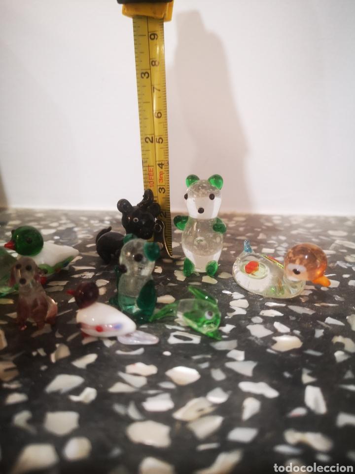 Antigüedades: Colección de 9 animales en miniatura, en cristal de murano, 1 a 4cm - Foto 2 - 203372740
