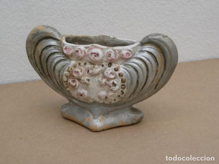 Antigüedades: Jarron florero modernista art nouveau en terracota - Foto 2 - 203382858