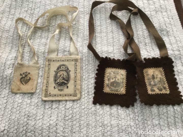 Antigüedades: Escapularios religiosos - Foto 2 - 203483035
