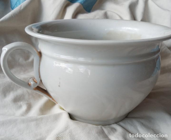 Antigüedades: Antiguo orinal de porcelana - Foto 4 - 203487142