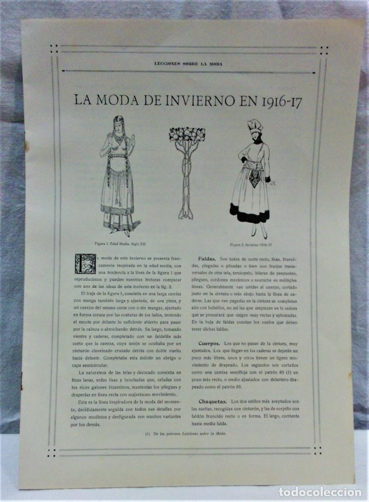 Antigüedades: LECCIONES SOBRE LA MODA. ACADÉMIA CENTRAL MARTÍ,BARCELONA.LA MODA DE INVIERNO 1916-1917 - Foto 2 - 203501551