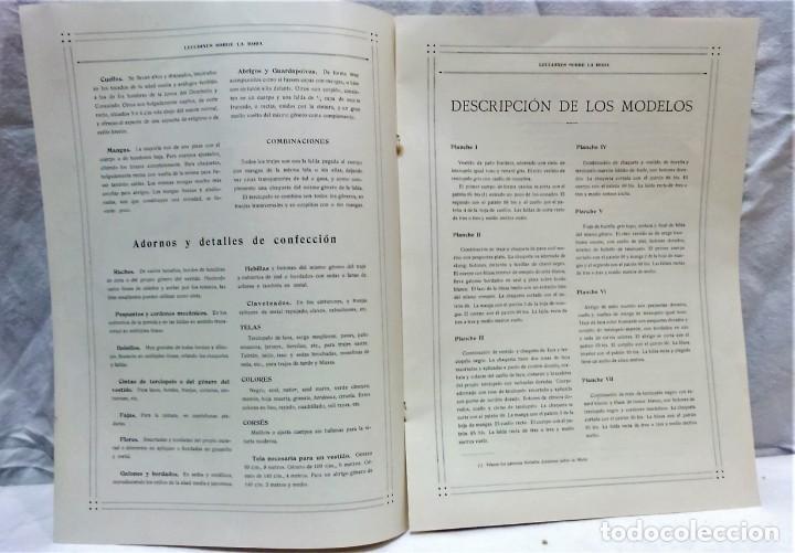 Antigüedades: LECCIONES SOBRE LA MODA. ACADÉMIA CENTRAL MARTÍ,BARCELONA.LA MODA DE INVIERNO 1916-1917 - Foto 3 - 203501551