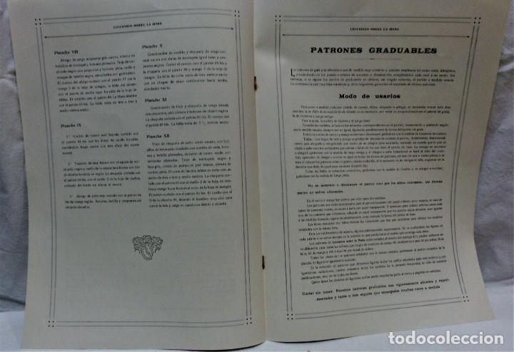 Antigüedades: LECCIONES SOBRE LA MODA. ACADÉMIA CENTRAL MARTÍ,BARCELONA.LA MODA DE INVIERNO 1916-1917 - Foto 4 - 203501551