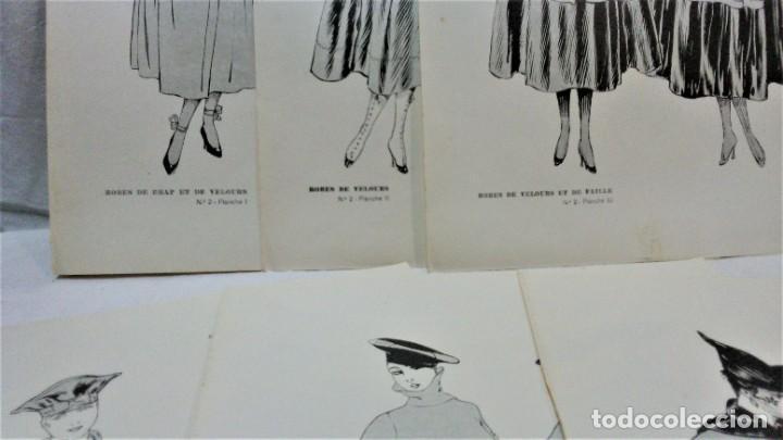 Antigüedades: LECCIONES SOBRE LA MODA. ACADÉMIA CENTRAL MARTÍ,BARCELONA.LA MODA DE INVIERNO 1916-1917 - Foto 6 - 203501551