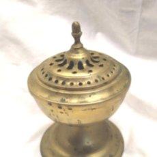 Antigüedades: INCIENSARO BRONCE S XIX, CAPILLA O HERMITA. MED. 10 X 16 CM. Lote 203547857