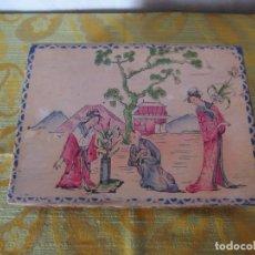 Antigüedades: ANTIGUA CAJA DE MADERA - COSTURERO. Lote 203572578