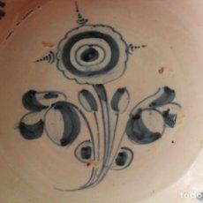 Antigüedades: GRAN PLATO EN CERAMICA DE TALAVERA S.XVIII. Lote 203617756
