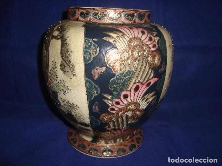 Antigüedades: JARRÓN / BOMBONERA / TIBOR SATSUMA - Foto 5 - 203621742