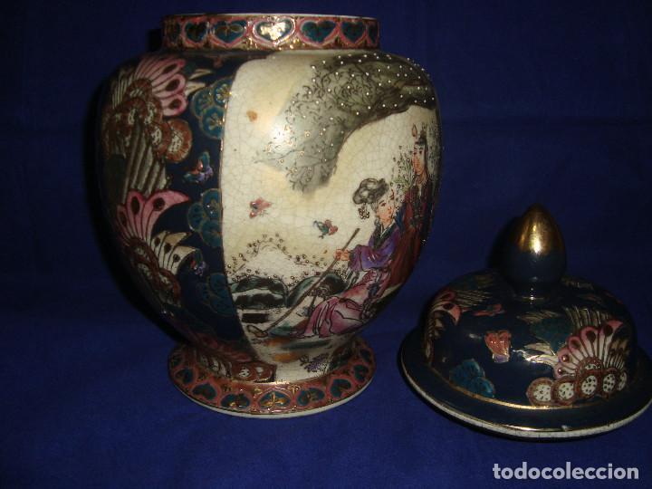 Antigüedades: JARRÓN / BOMBONERA / TIBOR SATSUMA - Foto 6 - 203621742