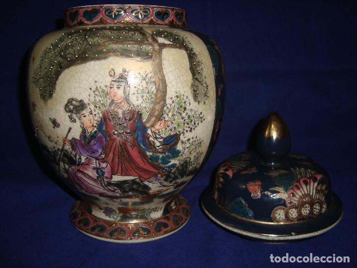 Antigüedades: JARRÓN / BOMBONERA / TIBOR SATSUMA - Foto 7 - 203621742