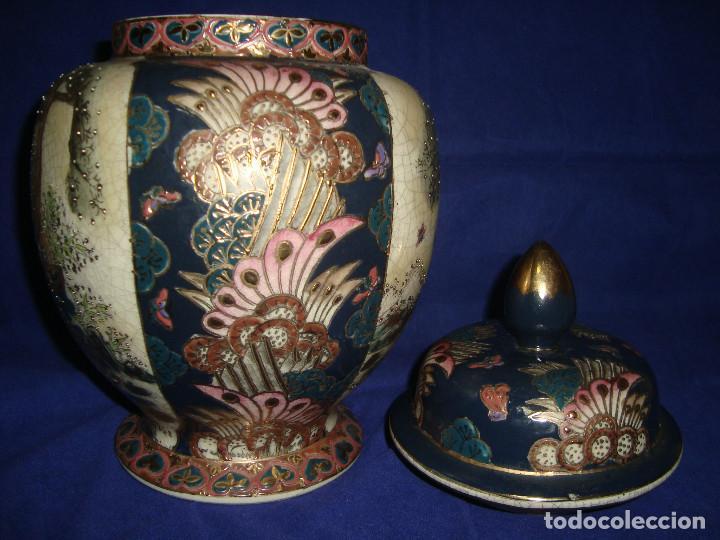 Antigüedades: JARRÓN / BOMBONERA / TIBOR SATSUMA - Foto 8 - 203621742