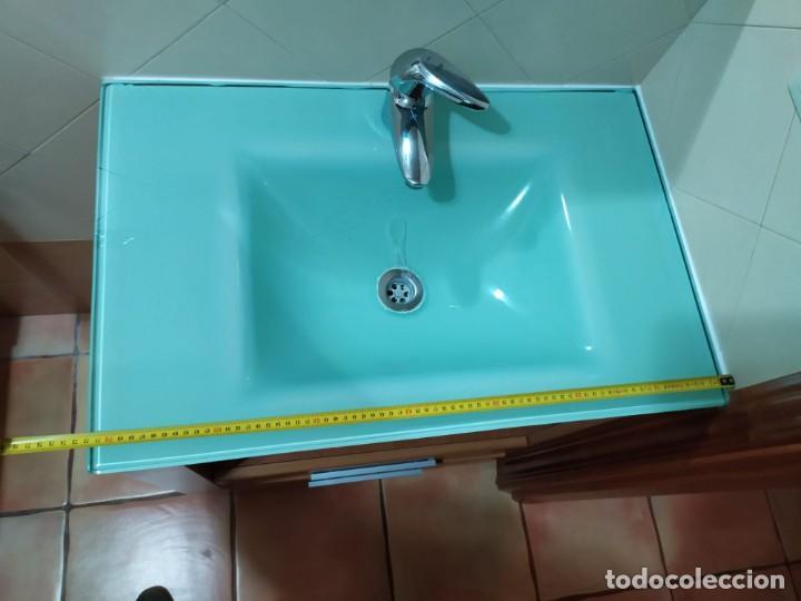 Antigüedades: Mueble baño con lavabo incluido + armario secundario - Foto 2 - 203660453